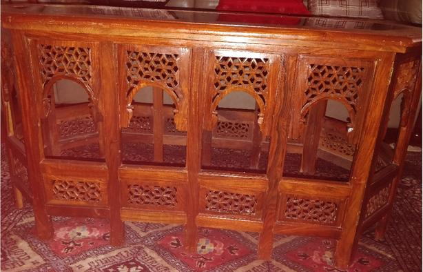Hand Carved  Sheesham Solid Wood 3 piece Coffee Table Set - Compact piece
