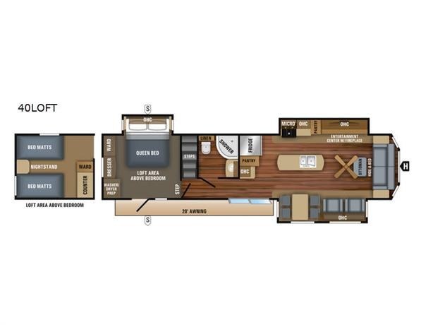 2018 Jayco Jay Flight Bungalow 40LOFT