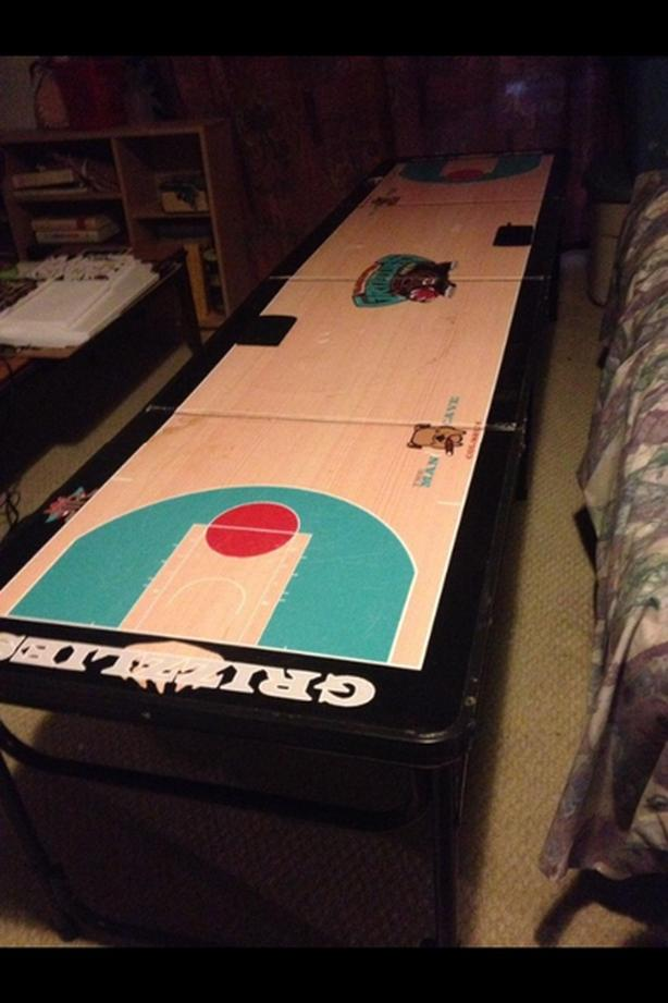 80 Vancouver Grizzlies Basketball Court Beer Pong Table