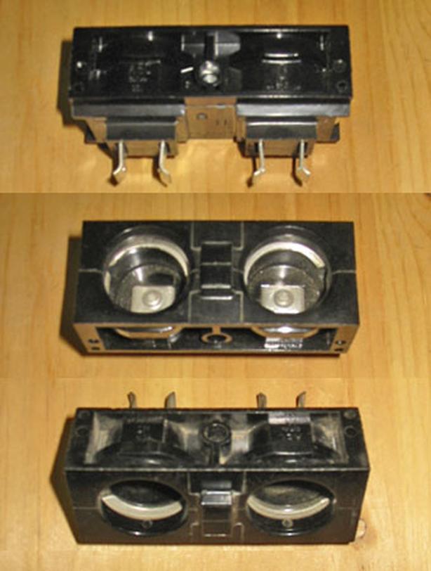 AEC 15/30 Amp Max Twin Plug-In Fuse Holder (#301) ~ Rare!
