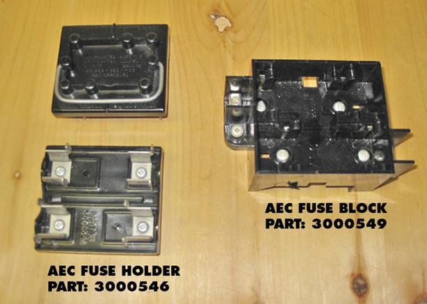AEC 30/60 Amp Fuse Holder & Fuse Block (Complete Set) ~ Rare!