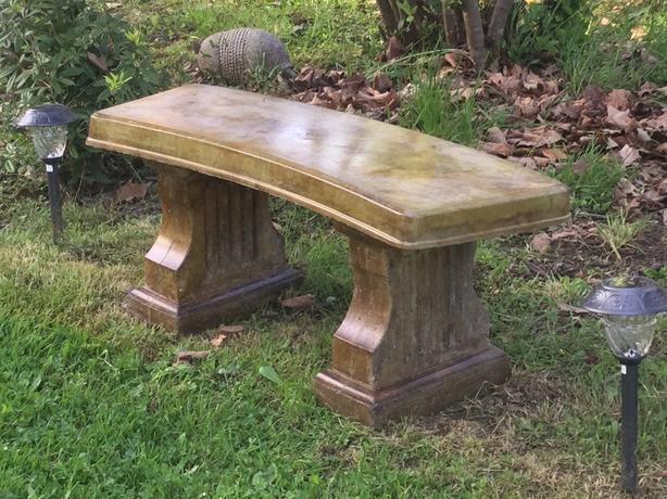 Miraculous Log In Needed 288 Large Concrete Garden Bench Evergreenethics Interior Chair Design Evergreenethicsorg