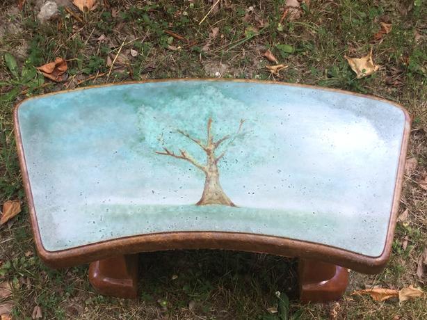 Pleasing Log In Needed 450 Tree Of Life Concrete Garden Bench Evergreenethics Interior Chair Design Evergreenethicsorg