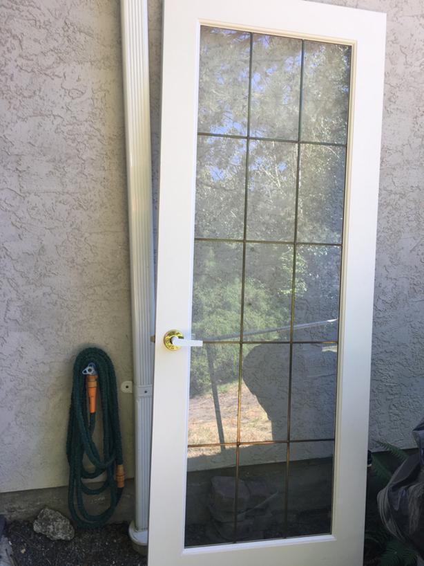 Interior Leaded Glass Door Saanich Victoria