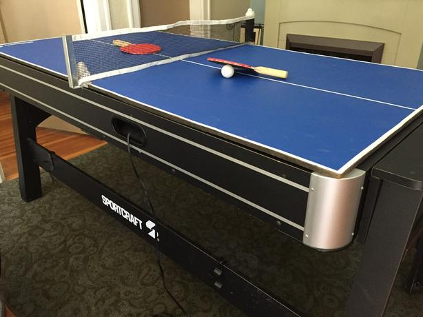 Sport Craft 3 In One   Pool Table, Ping Pong Table, And Air Hockey