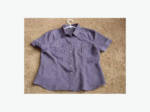 "Ladies ""suede-like"" Blouse - Size Large"