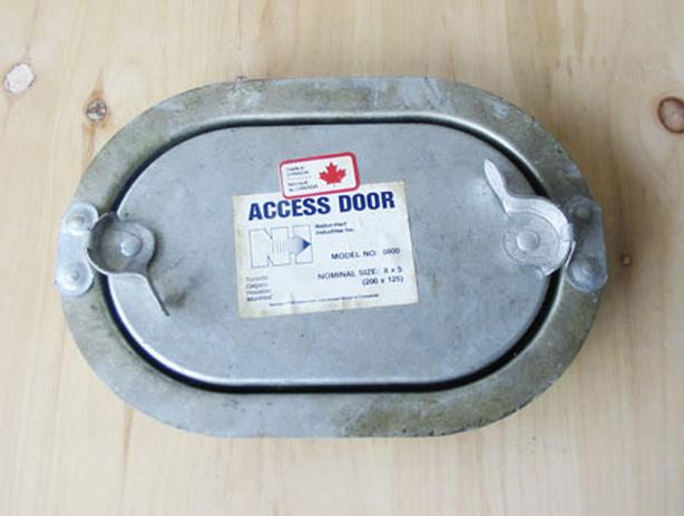 "NAILOR M1 Flat Oval Duct Access Door 8""W x 5""H (M/N: 0800) ~ New!"