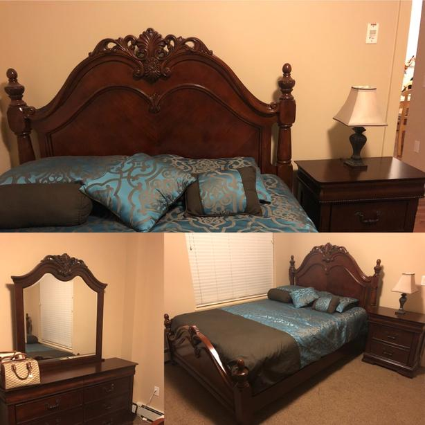 moving sale queen bedroomset with mattress and box spring