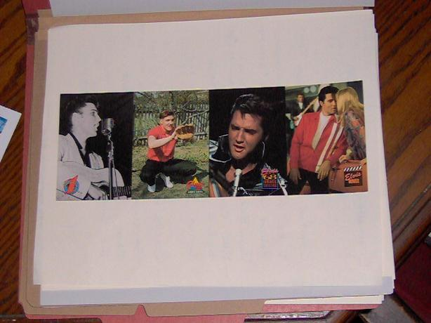 "Elvis Presley Uncut Sheet of Trading Cards ""RARE"" The River Group"