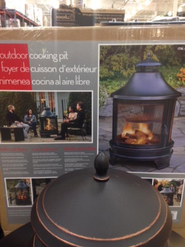 New In Box Outdoor Fire Pit From Costco West Shore Langford Colwood Metchosin Highlands Victoria Mobile