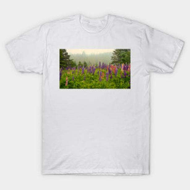 Lupins, look, lovely LUPINS! Tshirt with Lupins, NEW, great price!
