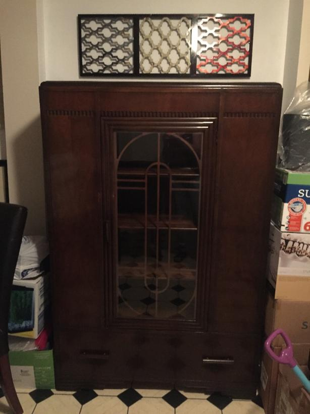 antique china cabinet/ disply hutch