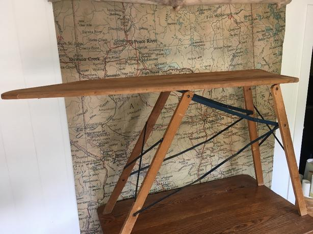 Log In Needed 30 Antique Wood Ironing Board