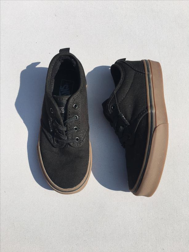 cae700d597 Kids Black Vans Slip-on Sneakers - Size 13 West Shore  Langford ...