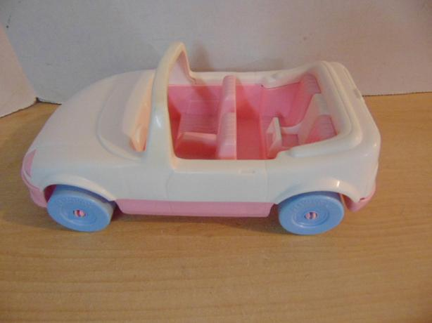 Dollhouse Vintage Playskool Sports Car White Pink Victoria City