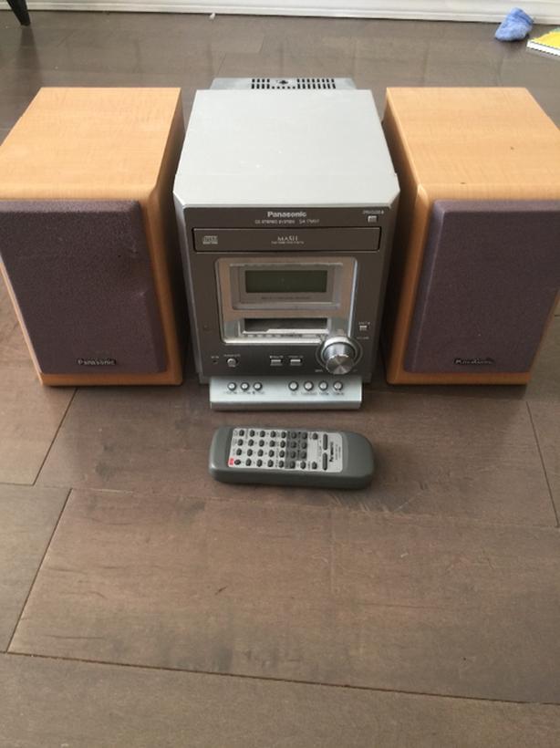 Panasonic Bookshelf Stereo Cd And Tape Player