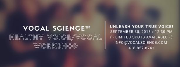 Vocal Science Healthy Voice Workshop Summit-( 1 Spot Remaining )