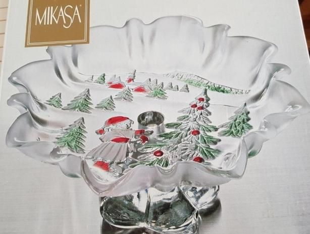 Mikasa Crystal Footed Bowl