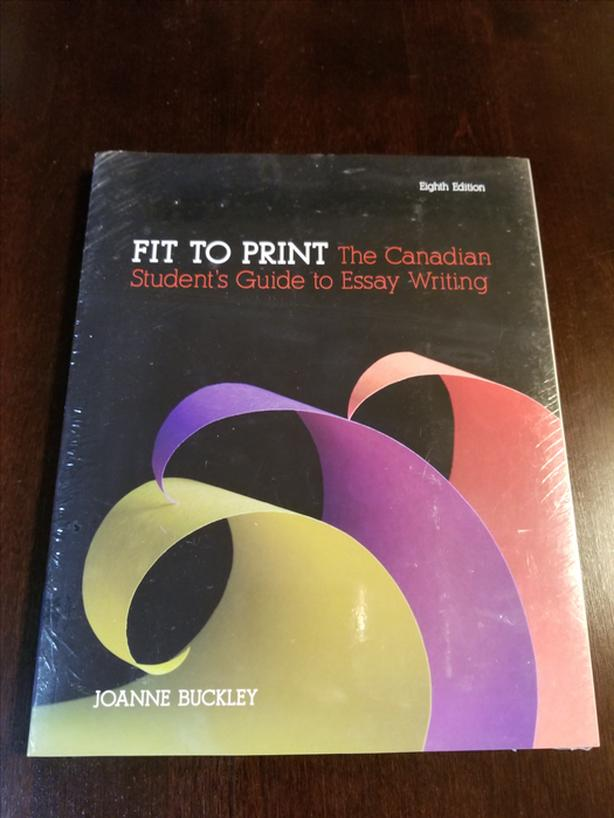 the canadian student guide to essay writing Fit to print: the canadian student's guide to essay writing paperback – 1987 by joanne buckley (author) be the first to review this item see all 4 formats and editions hide other formats and editions price new from used from paperback please retry $1499.