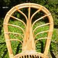 1 set of 2 handmade bamboo chairs