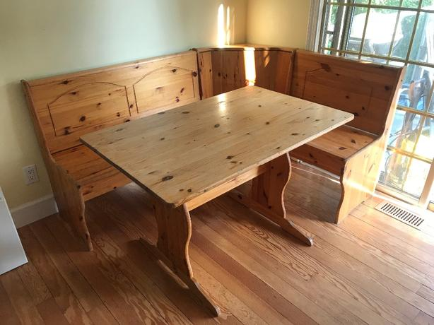 Prime Log In Needed 150 Kitchen Table And Wrap Around Bench Seating With Storage Machost Co Dining Chair Design Ideas Machostcouk