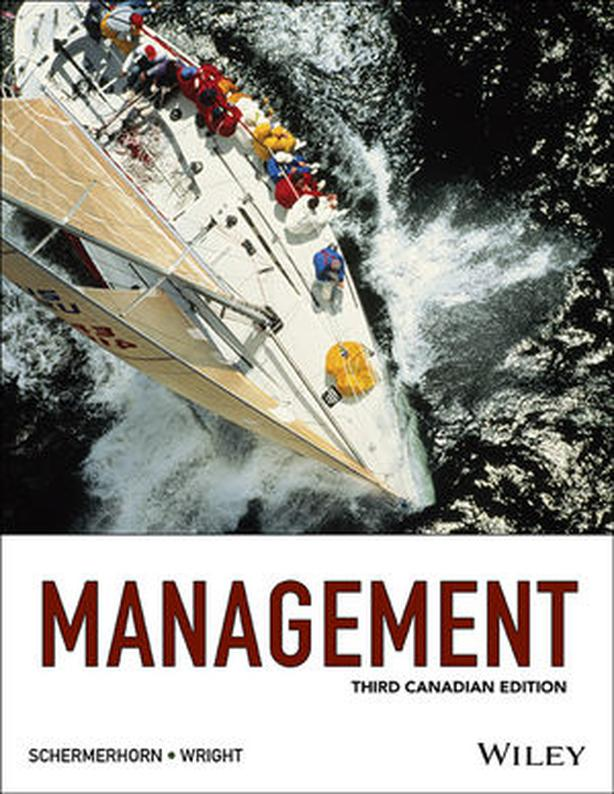 Management Textbook 3rd Canadian Edition Hardcover