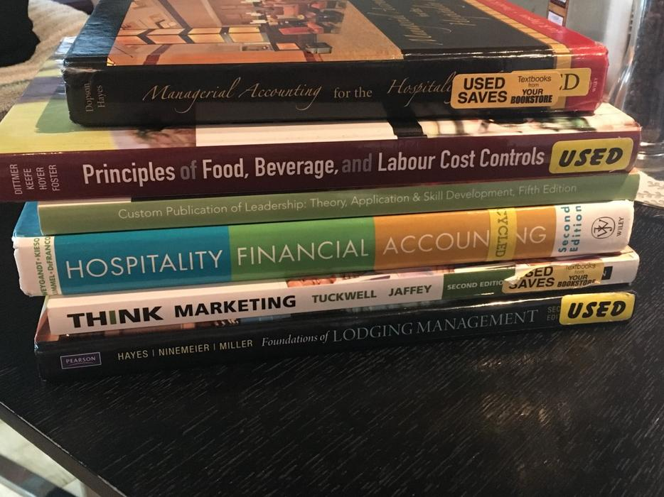 Camosun Hospitality Management Textbook Package Victoria City