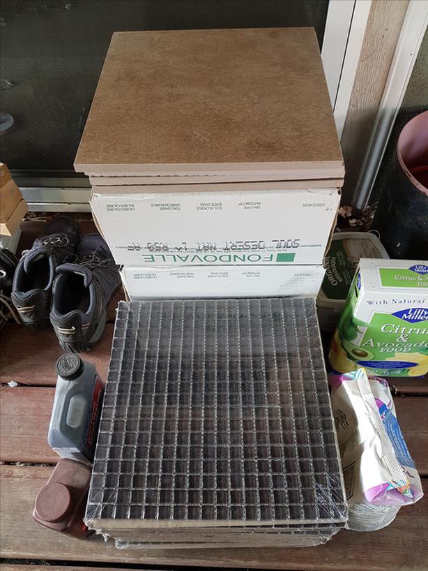 Floor and backsplash tiles