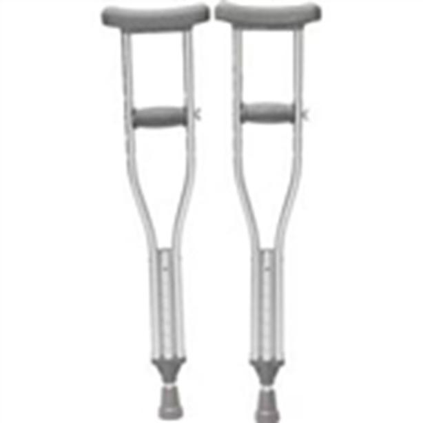 """Medium Adult Aluminum Adjustable Crutches Height 5'2""""- 5'10"""" LIKE NEW"""