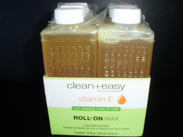 CLEAN AND EASY LARGE ROLL-ON WAX REFILLS - 6