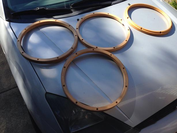 wood drum hoops