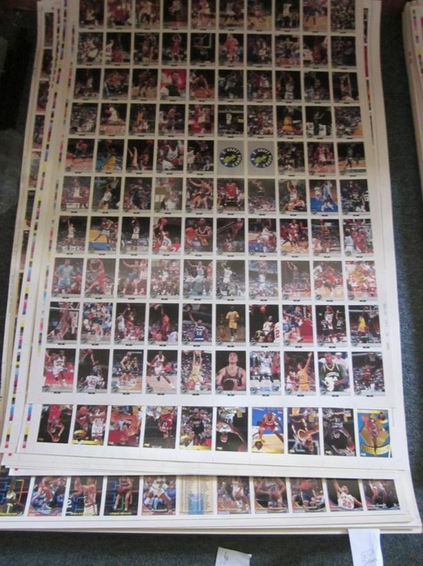 BULK LIQUIDATION UNCUT SPORTS CARD SHEETS - BASEBALL BASKETBALL FOOTBALL