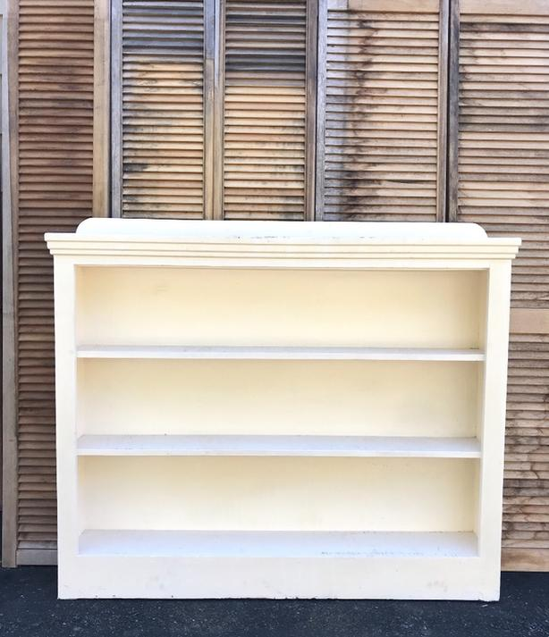 Old Antique Bookcase Bookshelf Farmhouse Shelf