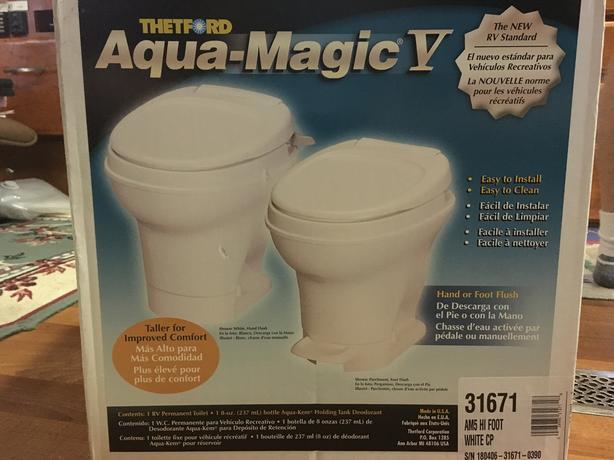 RV toilet - Thetford Aqua Magic V - brand new