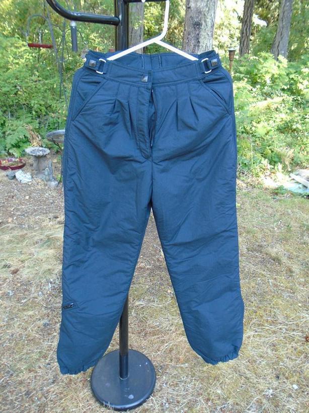 New Vintage Quality Ladies' Black Ski or Snowboard Pants Size 10 Europa
