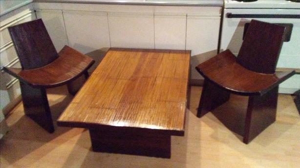 Bamboo infused Teak table & Chair set from Thailand