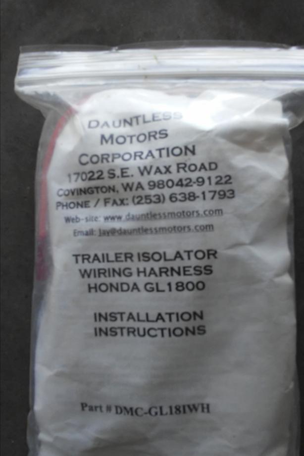 GoldWing Trailer Isolator Wiring Harness