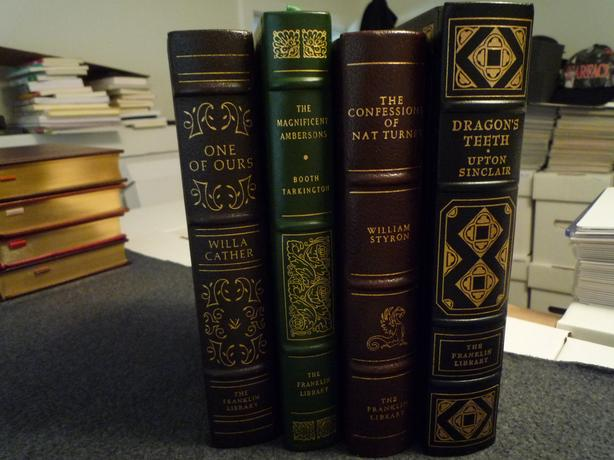 Franklin Library: Lot of 4 Leather Bound Pulitizer Prize Winning Books
