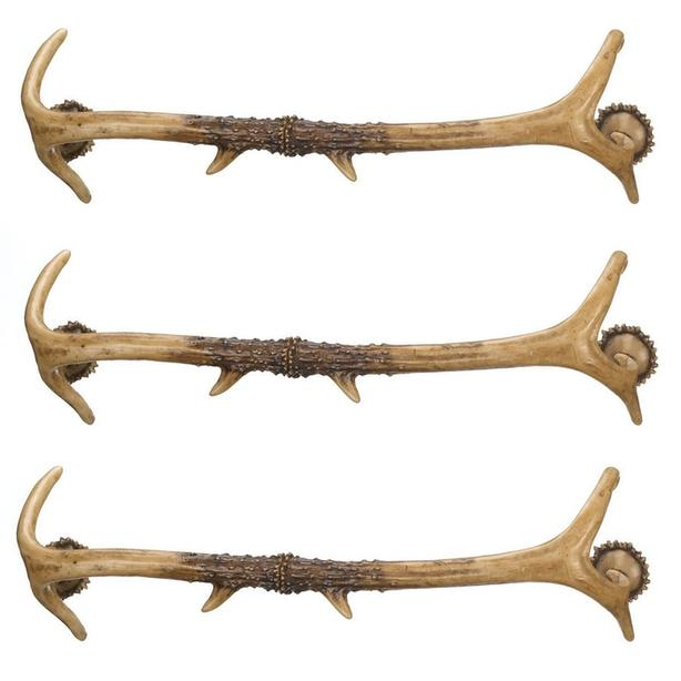 Intricately-Detailed Animal Friendly Faux Antler Towel Bar 3 Lot New