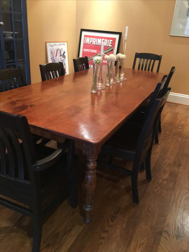 98 inch Harvest Dining Table