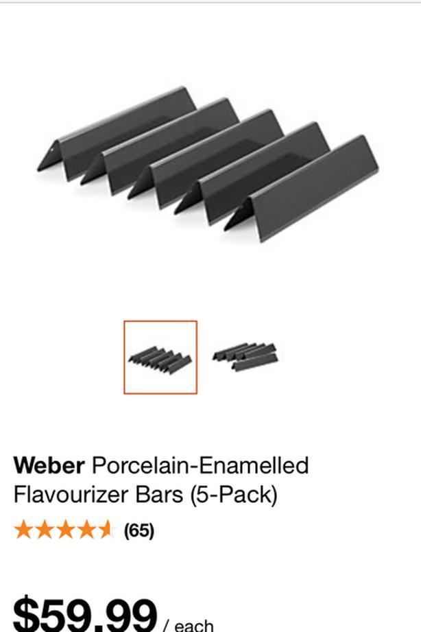 Weber Porcelain-Enamelled Flavourizer Bars - 5 pack
