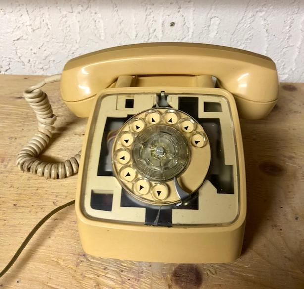Vintage GTE rotary dial telephone - antique desk phone - Vintage GTE Rotary Dial Telephone - Antique Desk Phone North Saanich