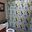 AlmostNew TopQuality Brand ECHO Shower Curtain In Modern Retro Circle Design