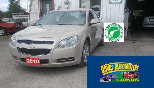 Certified 2010 Malibu Platinum 4 cyl, automatic leather seats