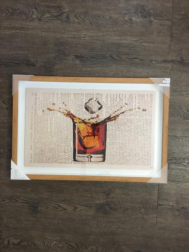 Scotch Glass Painting-Framed