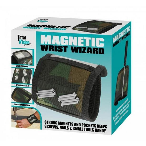 Magnetic Wrist Band with Pockets Handyman Tool Gadget One Size Gifts Resale 6Lot