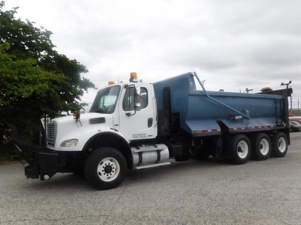 2009 Freightliner M2 112 Diesel Plow-Ready Triple Axle Dump Air Brakes