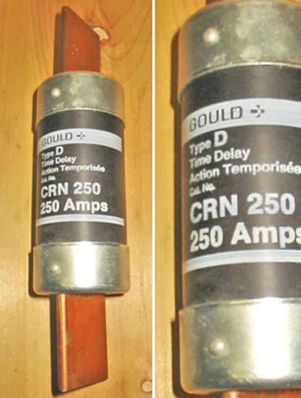 GOULD 250 Amp 250 Volt Time Delay Blade Fuse (CRN 200) ~ New!