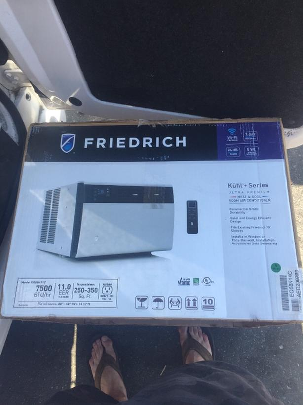 Friedrich Kuhl 8000 btu Air Conditioner w/ electric heat BRAND NEW!