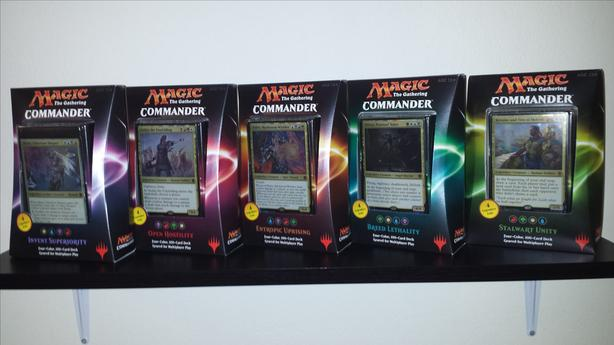 Magic the Gathering Commander 2016, 2017 and more